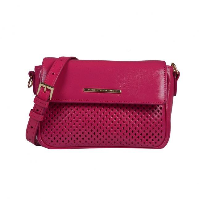 Clutch Couro Vazado Rosa Pink V20