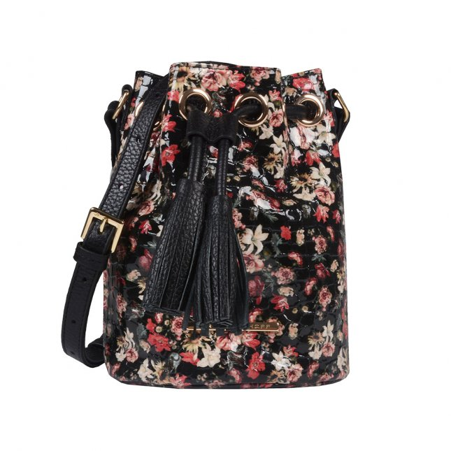 Clutch Tiracolo Couro Floral I20