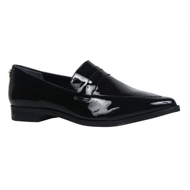 Loafer feminino verniz preto