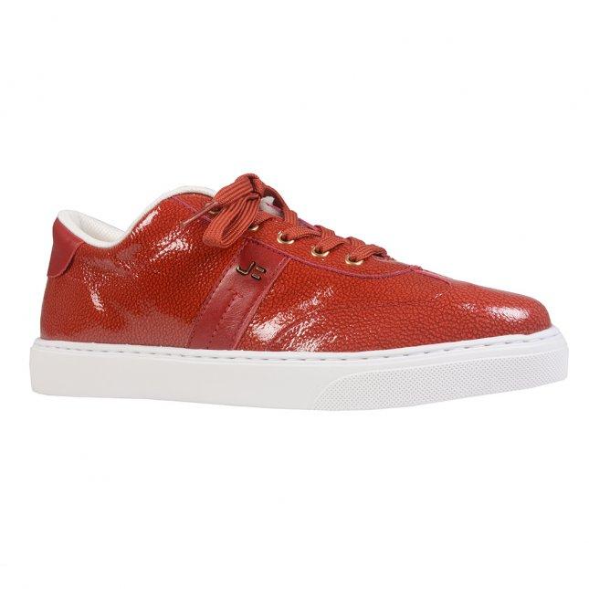 Tênis Casual Couro Dark Red I21