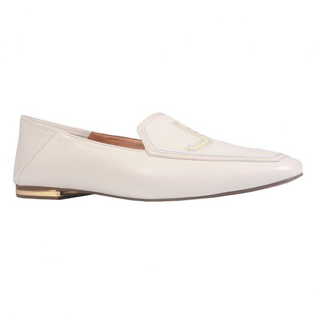 Loafer Off White Logomania em Couro V22