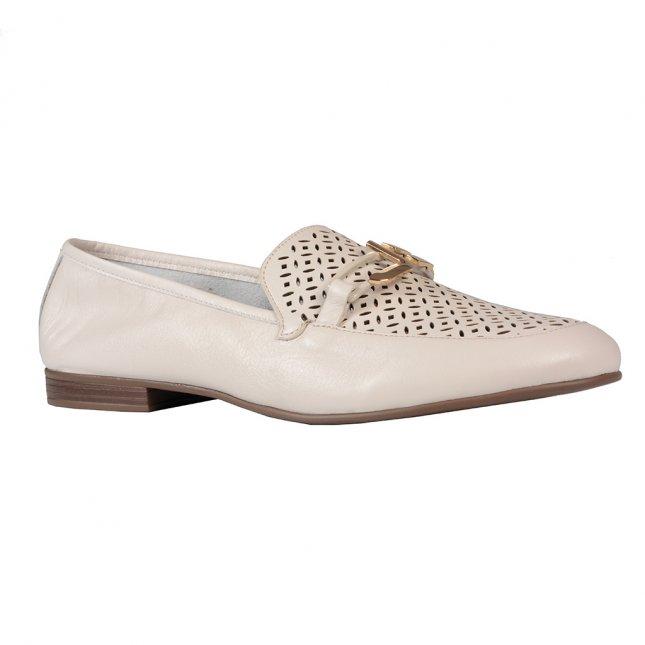 Loafer Off White Detalhe Vazado I21