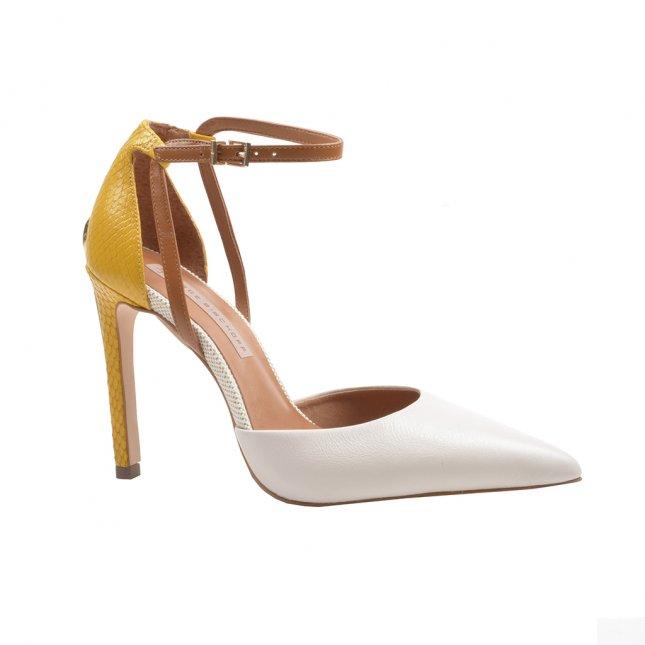 Scarpin Multicolorido com Ankle Strap V22