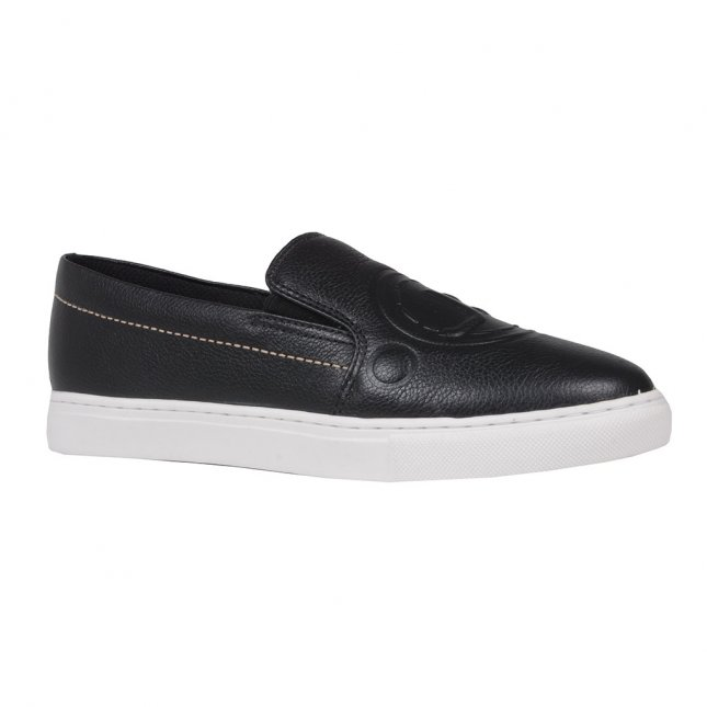 Tênis Slip On Preto Logomania