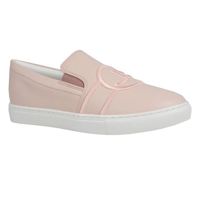 Tênis Slip On Couro Pale Pink com Bordado V20