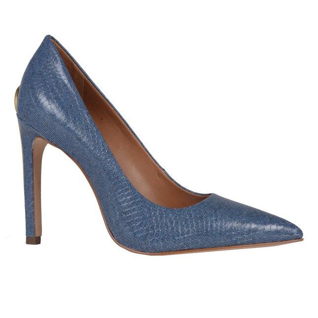 Scarpin Bico Fino Jeans Azul Náutico V20