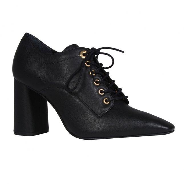 Ankle boot preto com amarração I19