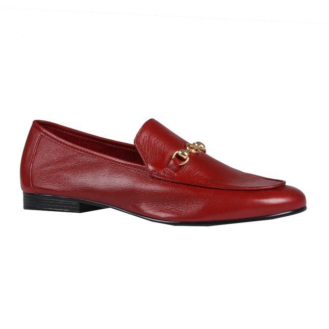 Loafer Couro Vermelho I20