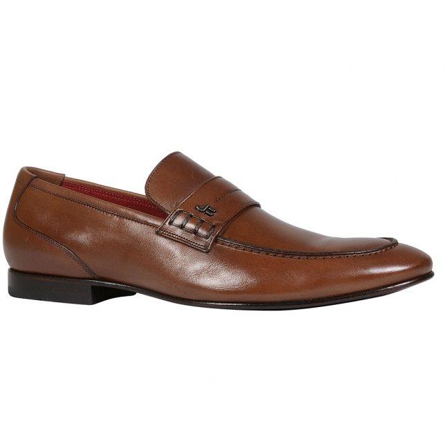 Sapato loafer masculino de couro marrom I21