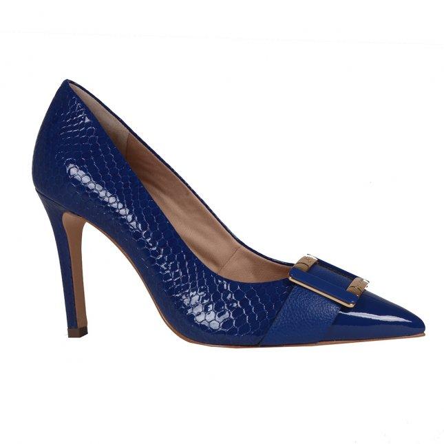 Scarpin Bico Fino Azul Náutico V20