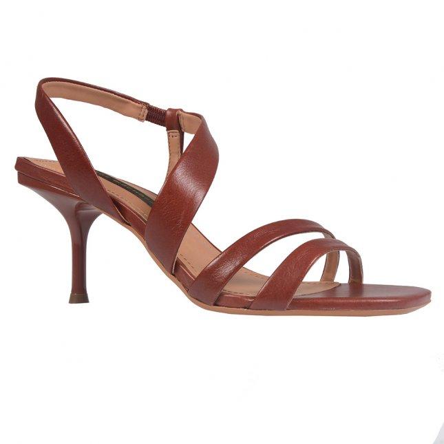 Sandália com Tiras Caramelo