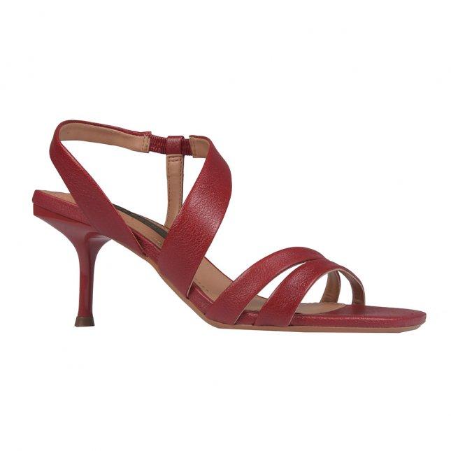 Sandália com Tiras Vermelho