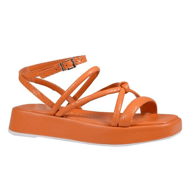 Sandália Flatform com Tiras Damasco V22