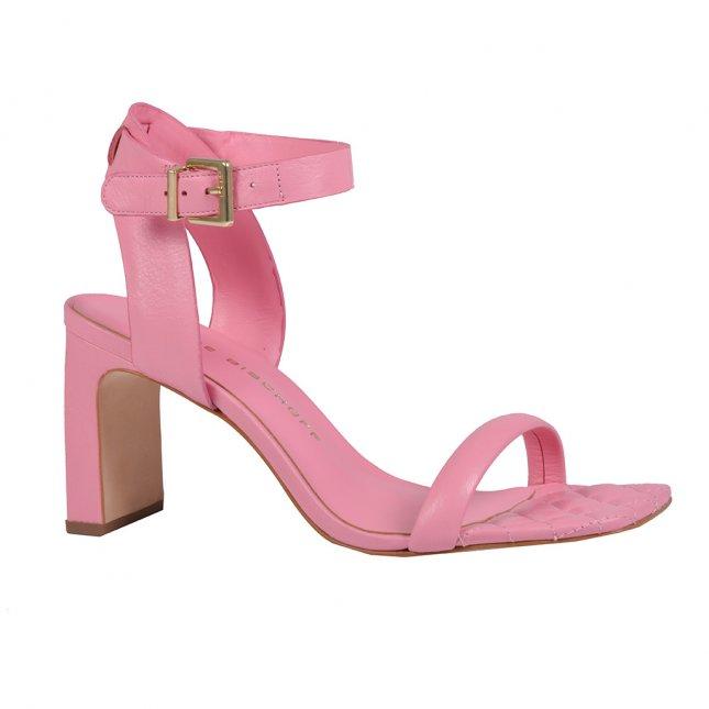 Sandália Em Couro Rosa V22