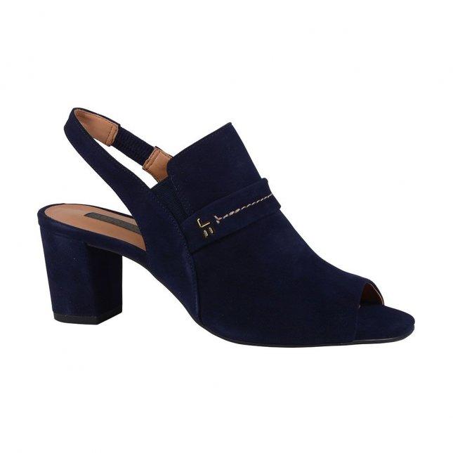 Sandália slingback azul carbono I19