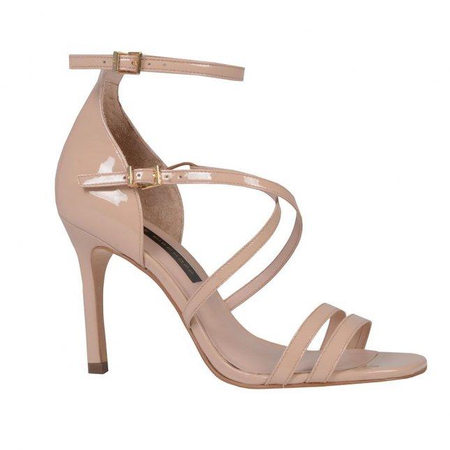 Sandália em couro verniz blush I19