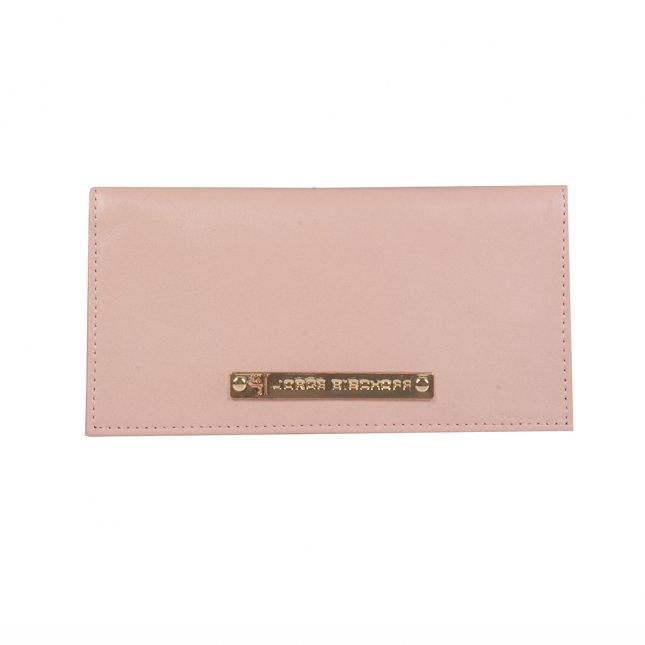 Carteira Porta-Cartão Couro Light Rose I21