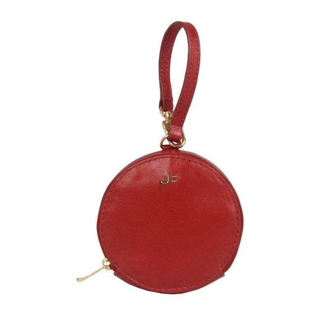 Bag Charm Porta-Moedas Redondo Dark Red I21