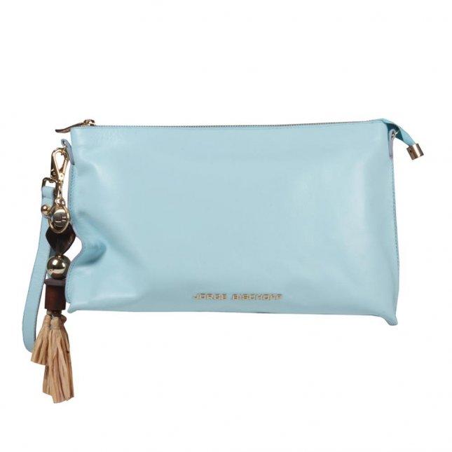 Clutch Couro Sea com Bag Charm V21