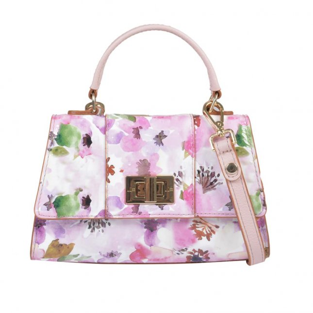 Clutch Tiracolo Couro Flower V21