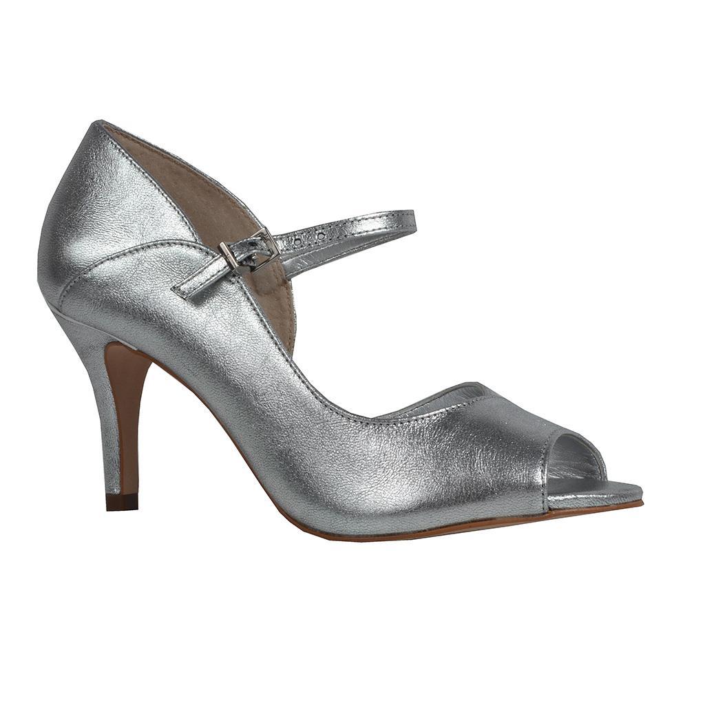 Sandália metalizada prata I19