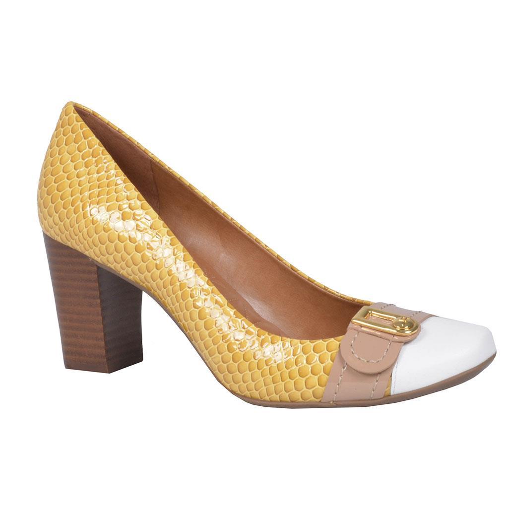4b4c46a25 Scarpin amarelo açafrão V18 - Jorge Bischoff Sapatos, bolsas e ...