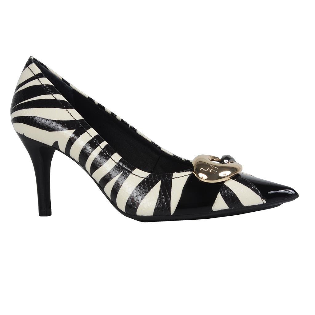 Scarpin bico fino zebra P&B I19