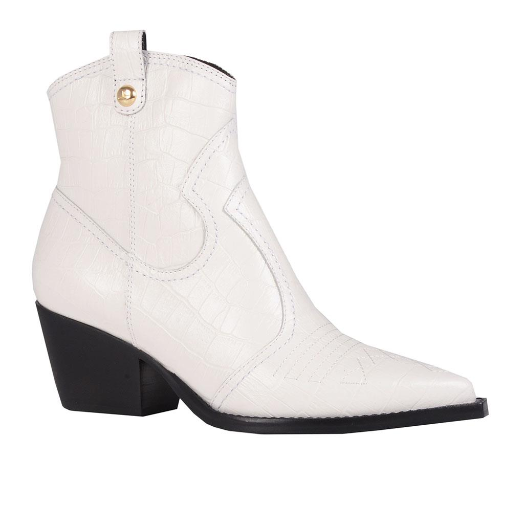 Bota country croco branco I19