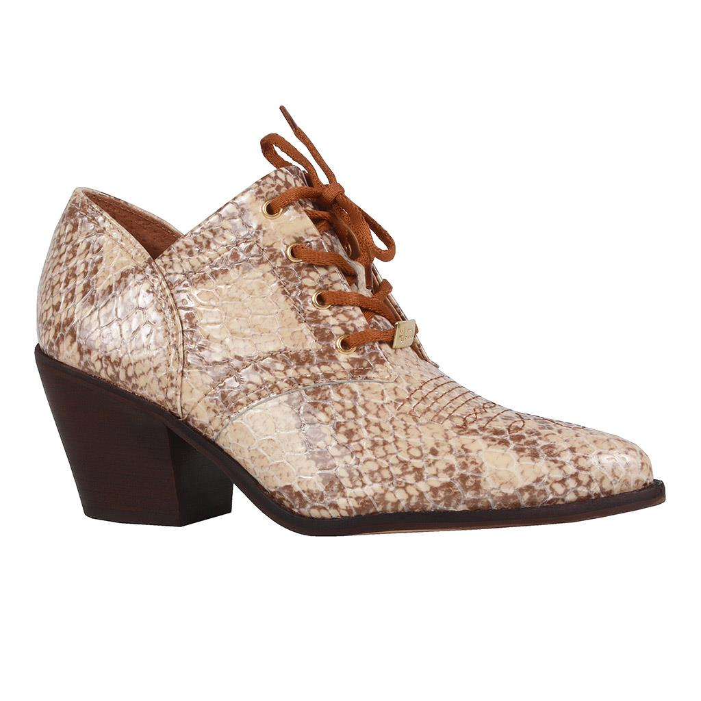 Ankle boot country snake I19