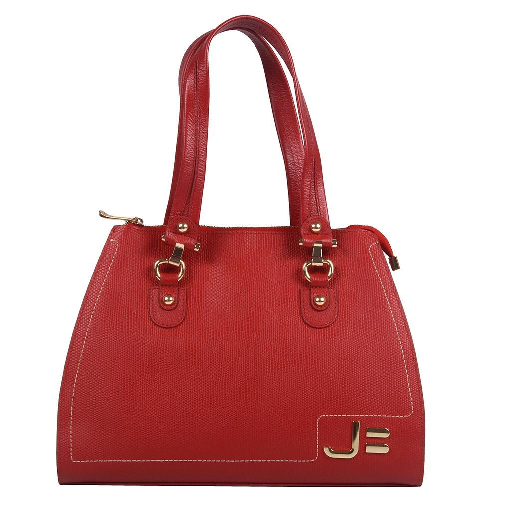 Bolsa Estruturada Vermelha com Pesponto