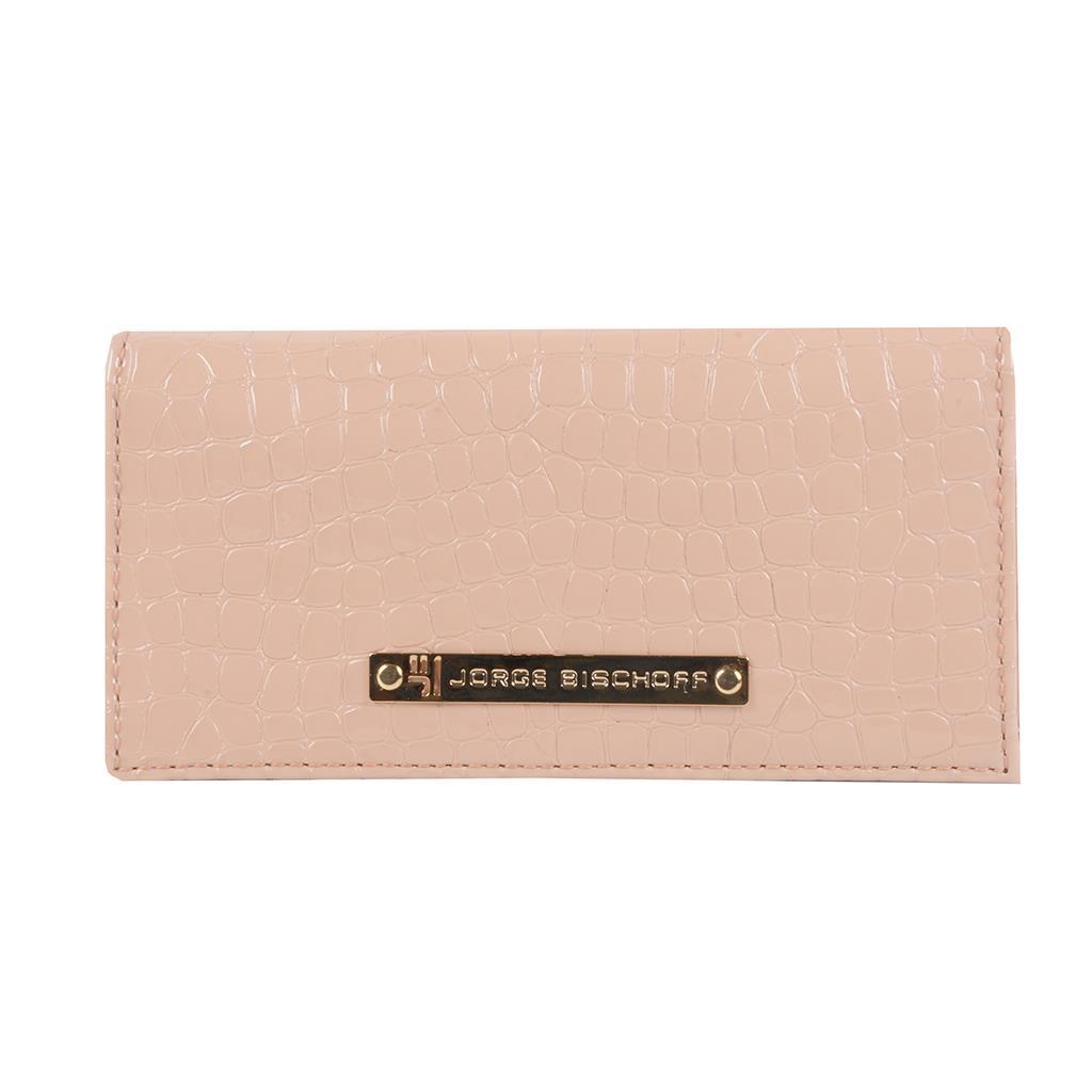 Carteira porta-cartões verniz blush I19