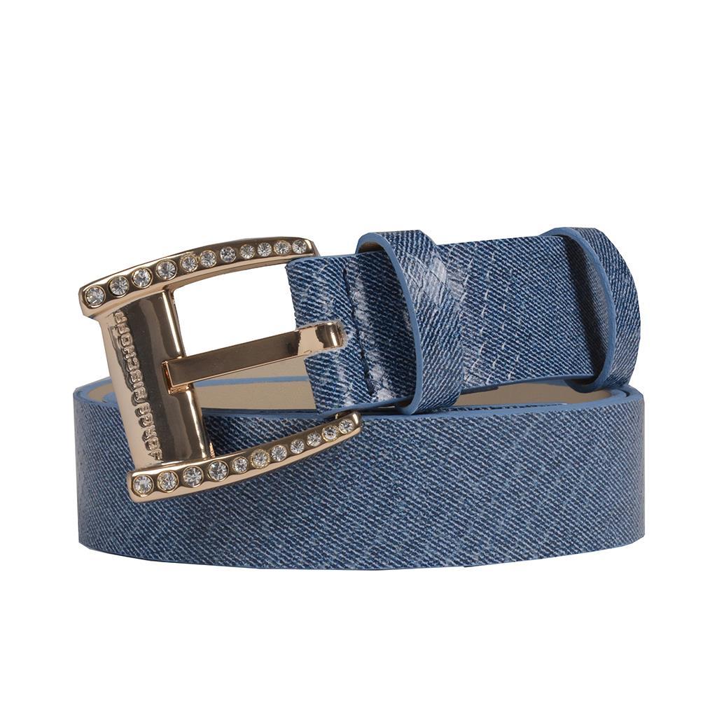 Cinto Couro Jeans Azul Náutico V20