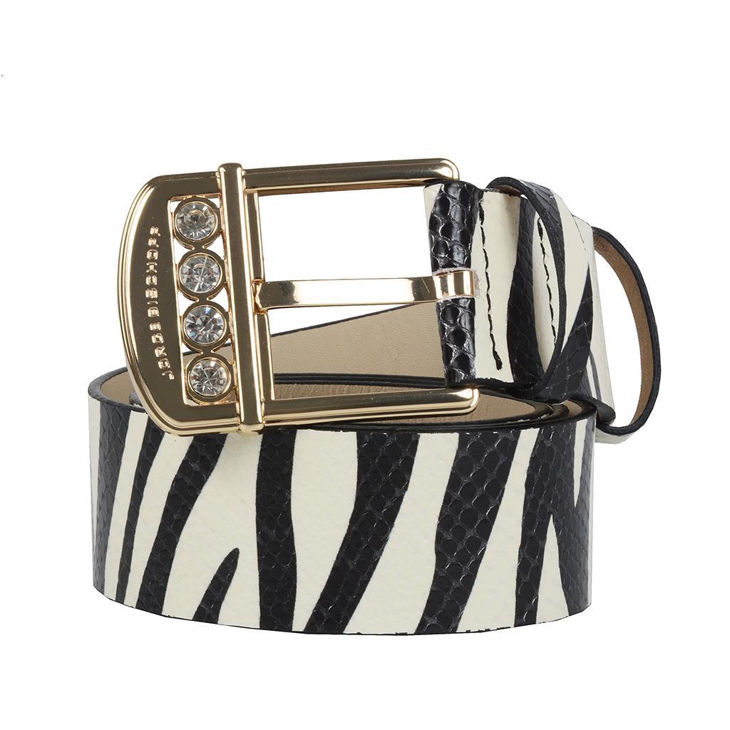 Cinto verniz zebra P&B I19