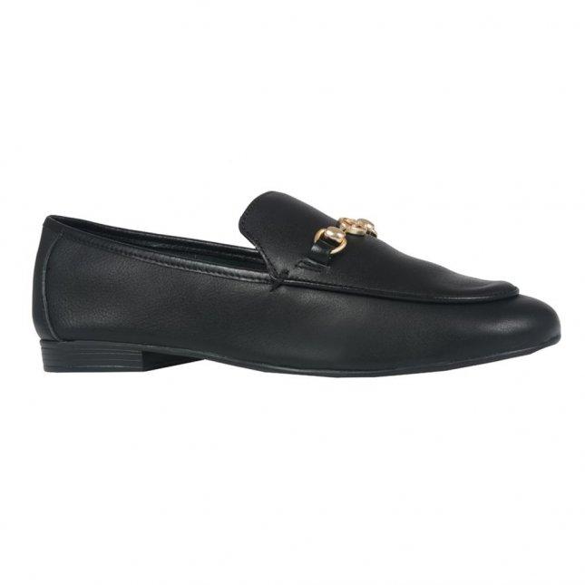 Loafer Feminino Couro Preto V21