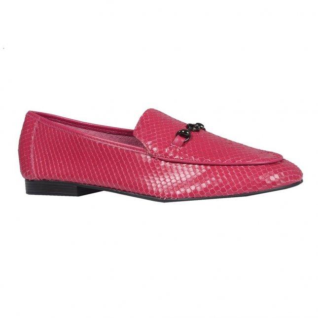 Loafer Couro Snake Cereja V21