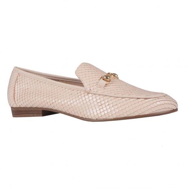 Loafer Couro Snake Creme V21
