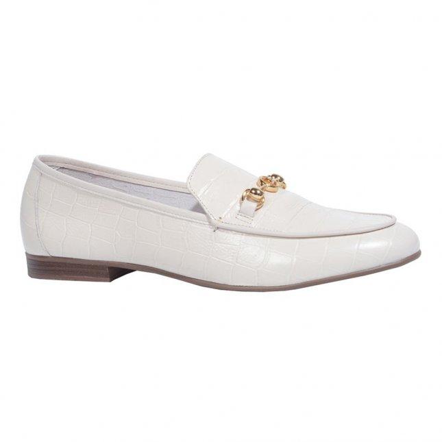 Loafer Croco Off White V21