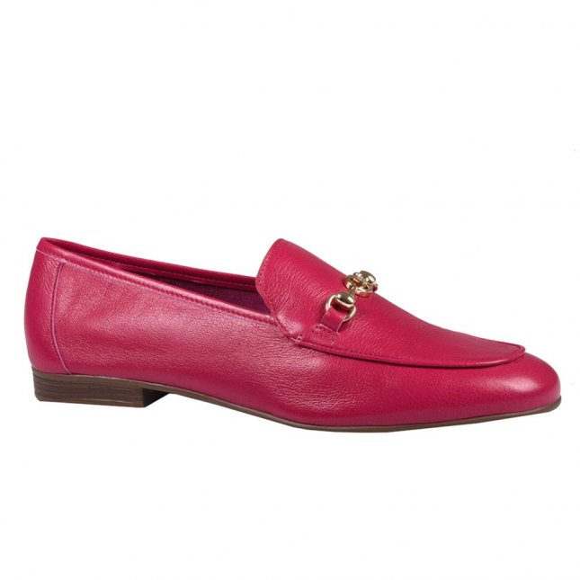Loafer Feminino Couro Cereja V21