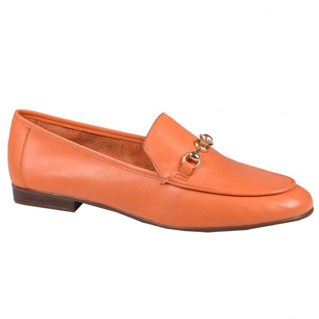 Loafer Feminino Couro Tangerina V21