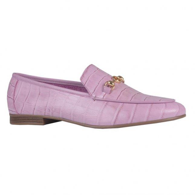 Loafer Couro Croco Lavanda V21