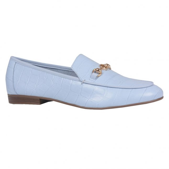 Loafer Croco Cotton Blue V21