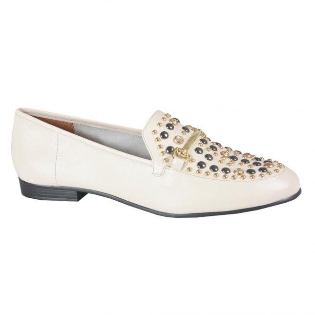 Loafer Off White com Rebites I21
