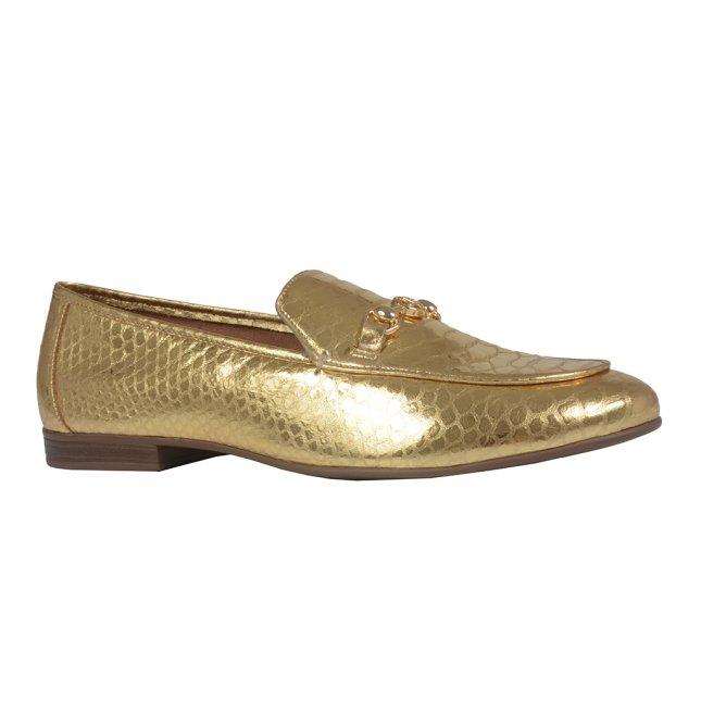 Loafer Couro Dourado I21