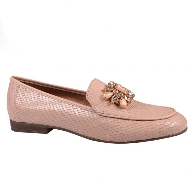 Loafer Couro Nude V21