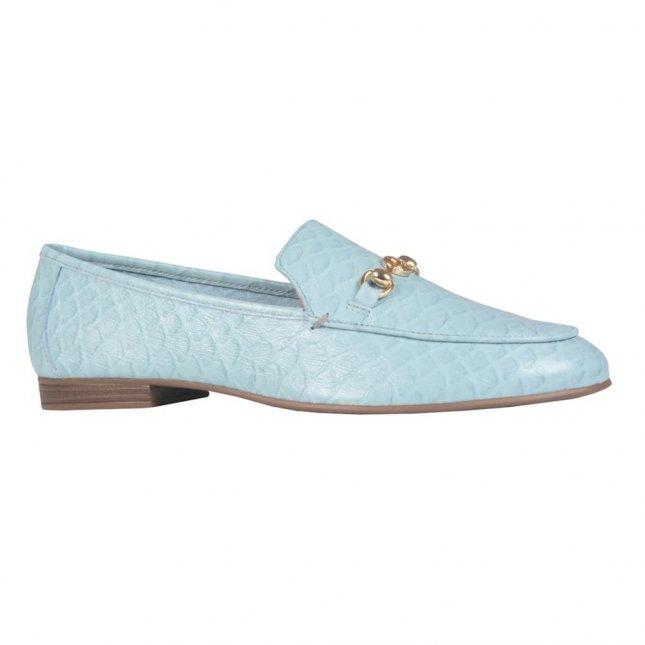 Loafer Couro Escama Ocean I21