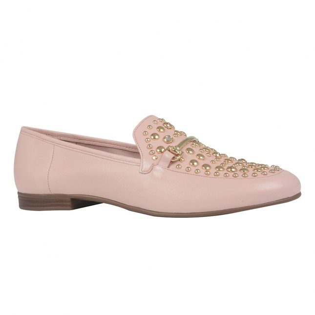 Loafer Light Rose com Rebites I21