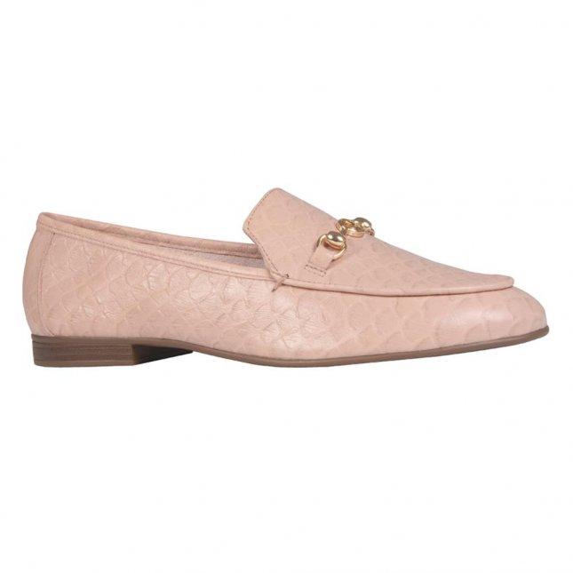 Loafer Couro Escama Nude I21