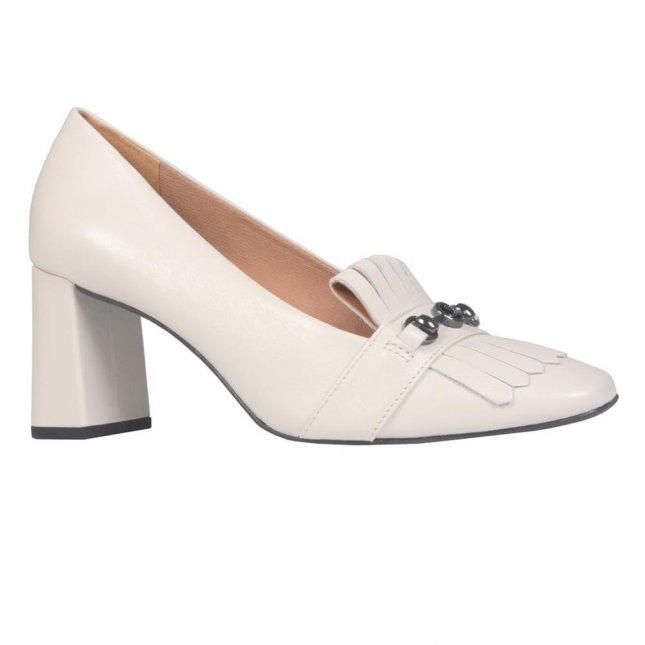 Loafer Off White com Salto I21