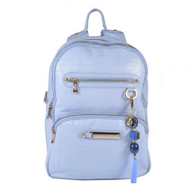 Mochila Cotton Blue em Couro V21