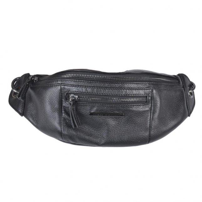 Belt Bag em Couro Preta V21